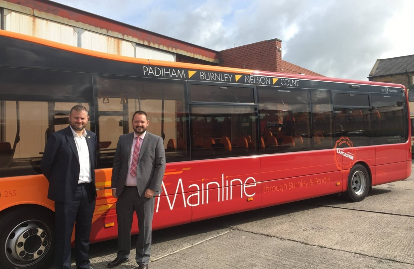 Andrew with the new Mainline bus