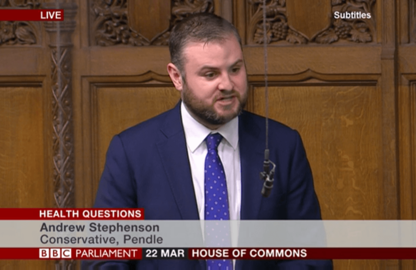 Andrew asking a question in the House of Commons