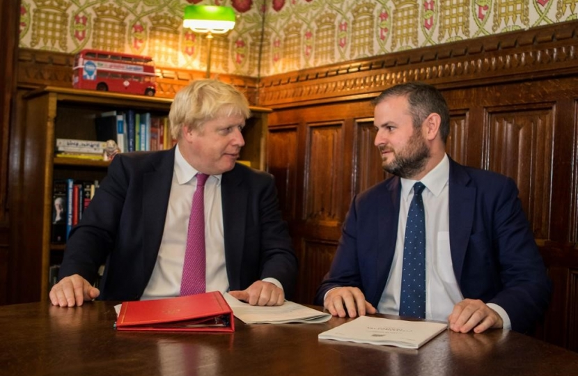 Photo of Andrew Stephenson MP & Boris Johnson MP