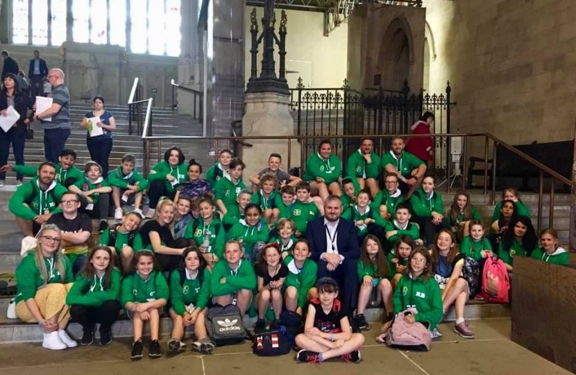 Pupils & Staff from Barrowford Primary School recent visit to Westminster